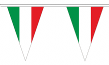 Italy Triangular Flag Bunting - 20m Long - 54 Flags